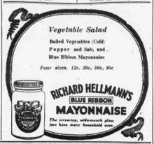 anuncio antiguo de mayonesa
